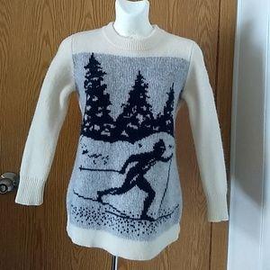 J.Crew Ski scene sweater